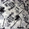 Zene - bona - ütős fekete - fehér mintás design textil 140cm 100% pamut, Textil, Pamut, Mindenmás, Varrás, Textil, Jó minőségű termék -  Textil - akár - patchwork - anyag  Design Textil  100% pamut  több féle  Jól ..., Alkotók boltja
