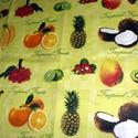 Trópusi gyümölcsök design textil méterre 140 cm széles - 70 x 50 cm 390.-Ft, Textil, Pamut, Mindenmás, Varrás, Textil, Kiváló minőségű - egyedi tervezésű - jogvédett termék -  Textil - akár - patchwork - anyag  100% de..., Alkotók boltja