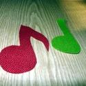 Hangjegyek textilmatrica 100% pamut - vasalós-felvarrós -  10 x 10 cm, Textil, Felvarrható kellék, Varrás, Mindenmás, Textil, Dobd fel ruhatárad!  Vasalható textilmatrica - rátét  Újdonság!!!  Hangjegyek  ~ 10 x 10 cm  1 db 2..., Alkotók boltja