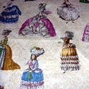 Nagyon csajos - rokokó  egyedi USA Design textil:o) 55 x 30 cm minőségi textil , Kiváló minőségű - egyedi tervezésű - jogvé...