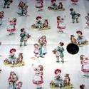 Gyerekek régi ruhában  egyedi USA Design textil:o) 55 x 30 cm minőségi textil , Textil, Pamut, Kiváló minőségű - egyedi tervezésű - jogvédett termék -  Textil - akár - patchwork - anyag  USA Desi..., Alkotók boltja