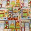 Boldog Születésnapot! USA design textil 55 x 30 cm, Textil, Bársony, Mindenmás, Varrás, Textil, Boldog Születésnapot!  USA design patchwork textil  100% poamut  55 x 30 cm 700.-Ft/db  Más mintáva..., Alkotók boltja