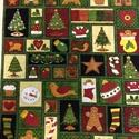 45 db blokk - Mézeskalácsos karácsonyi USA Design textil:60 x 55 cm, Textil, Pamut, Kiváló minőségű - egyedi tervezésű - jogvédett termék -  Textil - akár - patchwork - anyag  USA Desi..., Alkotók boltja