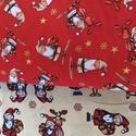 16 féle karácsonyi rénszarvasos arany nyomás USA Design textil: 70 x 30 cm, Kiváló minőségű - egyedi tervezésű - jogvé...