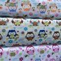 Hú - húúú cuki nagy baglyos design textil 140 cm széles 100% pamut, Textil, Pamut, Jó minőségű termék -  Textil - akár - patchwork - anyag  Design Textil  100% pamut  kétféle  A bagly..., Alkotók boltja
