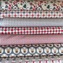 Karácsonyi apró mintás sok féle német design textil 70 x 30 cm, Textil, Pamut, Kiváló minőségű - egyedi tervezésű - jogvédett termék -  Textil - akár - patchwork - anyag..., Alkotók boltja
