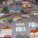 Házikók - jössz Te még az én utcámba :o))) 4 féle  55 x 30 cm minőségi textil  USA design , Textil, Pamut, Kiváló minőségű - egyedi tervezésű - jogvédett termék -  Textil - akár - patchwork - anyag..., Alkotók boltja