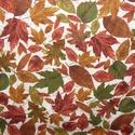 Egy kis őszi hangulat - leveles - patchwork textil 55 x 30 cm minőségi  USA design , Textil, Pamut, Mindenmás, Varrás, Textil, Kiváló minőségű - egyedi tervezésű - jogvédett termék -  Textil - akár - patchwork - anyag  USA Des..., Alkotók boltja
