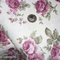 Bútorvászon rózsás design textil 140 cm - kevert szálas, Textil, Pamut, Alkotók boltja