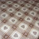 Kockás - szíves barna - piros és sárga design textil 140 cm 100% pamut - varrással is, Textil, Pamut, Mindenmás, Varrás, Textil, Jó minőségű termék -  Textil - akár - patchwork - anyag  Design Textil  100% pamut  több féle  Jól ..., Alkotók boltja