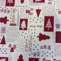 Karácsonyi mintás bútorvászon több féle extra  design textil 140 cm - kevert szálas, Textil, Pamut, Jó minőségű termék - extra spanyol  Textil - akár - patchwork - anyag  Design Textil  kevert szálas ..., Alkotók boltja