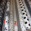 Egyedi megrendelés Vihancka részére, 2 m fekete fehér USA design textil  3.800.-Ft/m  ...