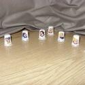 Különlegesség - 8 db porcelán gyűszű, Varrós lányok!  8 db porcelán gyűszű - külö...