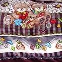 Extra 200 cm széles csodás bársony wellsoft mackós - bordűrös, Textil, Bársony, Alkotók boltja