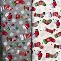 Akciós ár! Karácsonyi mintás minőségi német design textilek  140 cm, Textil, Pamut, Kiváló minőségű - egyedi tervezésű - jogvédett termék -  Textil - akár - patchwork - anyag..., Alkotók boltja