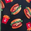 Hamburger - és mi-minden USA különleges Design textilek 110 x 30 cm , Textil, Pamut, Kiváló minőségű - egyedi tervezésű - jogvédett termék -  Textil - akár - patchwork - anyag..., Alkotók boltja