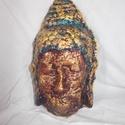 1b14751c0451 SA Buddha - falikép, maszk, Képzőművészet, Otthon, lakberendezés, Falikép,  Vegyes technika