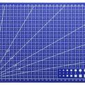 Vágólap patchwork foltvarrás vonalzó , Szerszámok, eszközök, Sablonok, Vágóalátét, Varrás, A4 méretű vágópad patchwork foltvarrás , vagy bármilyen technikához.  Merev, erős műanyagból készül..., Alkotók boltja
