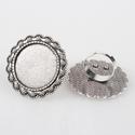 Kerek gyűrű alap antik ezüst színű, Gyöngy, ékszerkellék, Egyéb alkatrész, Ékszerkészítés, Szerelékek, Antiallergén, nikkelmentes fémötvözetből készült ékszerkészítési alapanyag, alkatrész.  Antik ezüst..., Alkotók boltja
