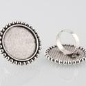 Kerek gyűrű alap antik ezüst színű, Gyöngy, ékszerkellék, Egyéb alkatrész, Antiallergén, nikkelmentes fémötvözetből készült ékszerkészítési alapanyag, alkatrész.  ..., Alkotók boltja