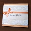 BELLE esküvői meghívó, Csináld magad leírások, Egységcsomag, Papírművészet, Elegáns és szolid esküvői meghívó csipkével, masnival és gyöngyökkel  • alapja színes karton • mely..., Alkotók boltja