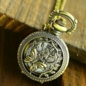 """Antik bronz """"pillangó"""" ékszeróra/nyakláncóra, Órakészítés, Vegyes alapanyag, Ékszerkészítés, Antik bronz színű, lenyitható fedelű nyaklánc óra.  Mérete: 2,5cm átmérőjű A nyaklánc hossza 80cm, ..., Alkotók boltja"""