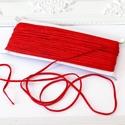 Sujtás zsinór PIROS, 30m tekercs, Textil, Ékszerkészítés, Varrás, Zsugorka, Piros színű sujtás zsinór, kb. 3 mm széles, bő 30m hosszú tekercs. Nagyon finom, puha, selymes tapi..., Alkotók boltja