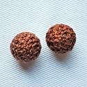 Barna pamut golyó köztes, fűzhető, 2db/ csomag, Gyöngy, ékszerkellék, Egyéb alkatrész, Mérete 1,5cm S. barna pamut köztes 2db/ csomag, Alkotók boltja
