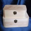 Kerekített sarkú doboz-nagyobb, Fa, Doboz, Mérete:22x16x8,5 , Alkotók boltja
