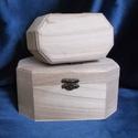 Nyolcszög alakú doboz -nagyobb, Fa, Doboz, Fából készült, nyolcszög alakú doboz. Könnyen égethető vagy festhető.   Mérete: 16x10x8 c..., Alkotók boltja
