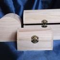 Kincsesláda - kis méret, Fa, Doboz, Ívelt fedelű fa doboz Mérete: 13x8,5x8 cm, Alkotók boltja