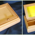 Tükrös doboz közepes 13x13x5cm , Fa, Doboz, Famegmunkálás, Decoupage, szalvétatechnika, Tükrös doboz 13x13xh5cm , Alkotók boltja