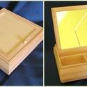 Tükrös doboz nagy 19.5x19.5x6cm , Fa, Doboz, Famegmunkálás, Decoupage, szalvétatechnika, Tükrös doboz nagy 19.5x19.5x6cm , Alkotók boltja