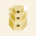 Hatszög alakú doboz szett 3 db-os, Fa, Doboz, 3 darabos szett  kicsi: 9,5 x 8,5 x 5 cm közepes:13x11x6,5 nagy: 16x14x8 cm, Alkotók boltja
