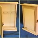 Kulcstartó szekrény, Fa, Tároló, Famegmunkálás,   Mérete:  16x23x5,5 cm , Alkotók boltja