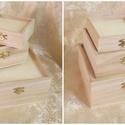 Négyzet alakú doboz-KICSI, Fa, Doboz, kicsi: 11x11x4 cm, Alkotók boltja