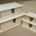 Könyv alakú doboz-MINI, Fa, Doboz, Famegmunkálás, 4 db különböző méretben elérhetők termékeim közt.   Mini: 11x 7,5 x 4,5 cm.  Kicsi: 15,5 x 10 x 6 c..., Alkotók boltja