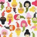 Henry Glass: Mermaids - 30x55 - sellő kislány mintás, Textil, Pamut, Varrás, Textil, amerikai designer textil: Henry Glass - Mermaids 100% pamut  A sellők 9-10 cm magasak.  méret: 30cm..., Alkotók boltja