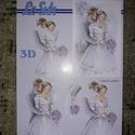 3D kép - (menyasszony/vőlegény) esküvői mintával, Dekorációs kellékek, Papír, Mindenmás, Papírművészet, Le Suh márkájú 3D kép készítő lapok.   Több féle mintával.  Nem elővágottak.  A/5-ös méret.   , Alkotók boltja