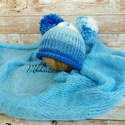Kötött újszülött baba sapka + takaró 0-2 hónapos méret , Baba-mama-gyerek, Ruha, divat, cipő, Gyerekruha, Baba (0-1év), Kötés, Kézzel kötött  babasapka + takaró szett  Mérete : 0-2 hó  Sapka mérete : 33-36 cm- es fejméretig   ..., Meska