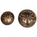 Szitakötő gyurma lencse, fekete-bronz, kicsi, Gyurma, Fimo, Alkotók boltja