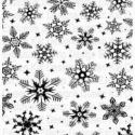Bélyegző, nyomda hópehely mintával, gumi, Szerszámok, eszközök, Alkotók boltja