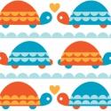 Turtle Love - Birch fabrics organikus, azaz bio pamut, Textil, Pamut, Varrás, Textil, Magyarországon egyedül nálunk kapható!  100 % organikus, azaz bio pamut a Birch Fabrics Marine Too ..., Alkotók boltja