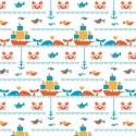 Seafaring - Birch fabrics organikus azaz bio pamut, Textil, Pamut, Varrás, Textil, Magyarországon csak nálunk kapható!    100 % organikus, azaz bio pamut a Birch Fabrics Marine Too k..., Alkotók boltja