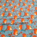 AKCIÓ!!! Mókusok munkában ---- Bio Jersey, Textil, Pamut, Varrás, Textil, Prémium minőségű elasztikus méteráru.  Jersey Textil!  Összetétele: 95 % biopamut, 5 % elasztán  Sz..., Alkotók boltja