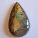 Labradorite 1., Gyöngy, ékszerkellék, Cabochon, Nagy szerelem Nálam a Labradorite. :-) Imádom , hogy ahány, annyi féle tűz ég benne. Ebben a kőben o..., Alkotók boltja