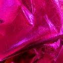 Metál hot pink fukszia  báránybőr , Gyöngy, ékszerkellék, Egyéb alkatrész, Alkotók boltja