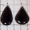 Fekete onix achát 2, Gyöngy, ékszerkellék, Cabochon, Egyforma , mély fekete színük van. Gyönyörű fényesre polírozva.    Az ár egy db ásványra ..., Alkotók boltja