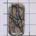 Picasso  jáspis 1 , Gyöngy, ékszerkellék, Cabochon, Fantasztikus mintázata van!    Méretek:   29mmX15mm  , Alkotók boltja
