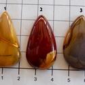 MOOKAITE JASPER 4, Gyöngy, ékszerkellék, Cabochon,  Csodálatos, változatos színek!   Szuper fényesre vannak polírozva!   Méretek: 1:  33mm X 20mm..., Alkotók boltja